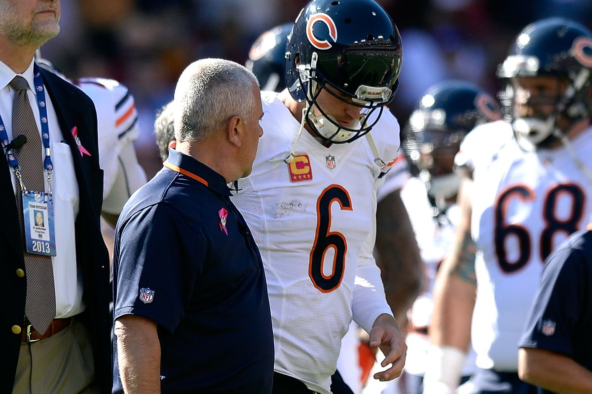 The Bears will try to beat its rival without injured quarterback Jay Cutler tonight.