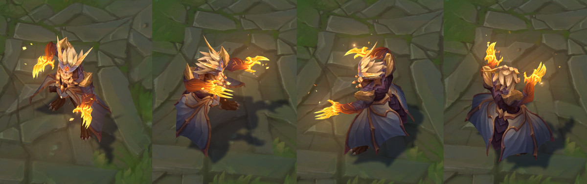 The turnaround images for Dragon Oracle Udyr's Tiger Stance