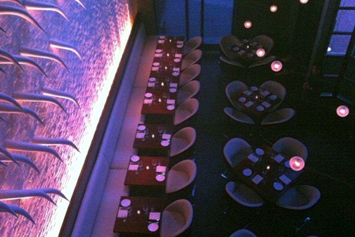 The dining room at STK Atlanta.
