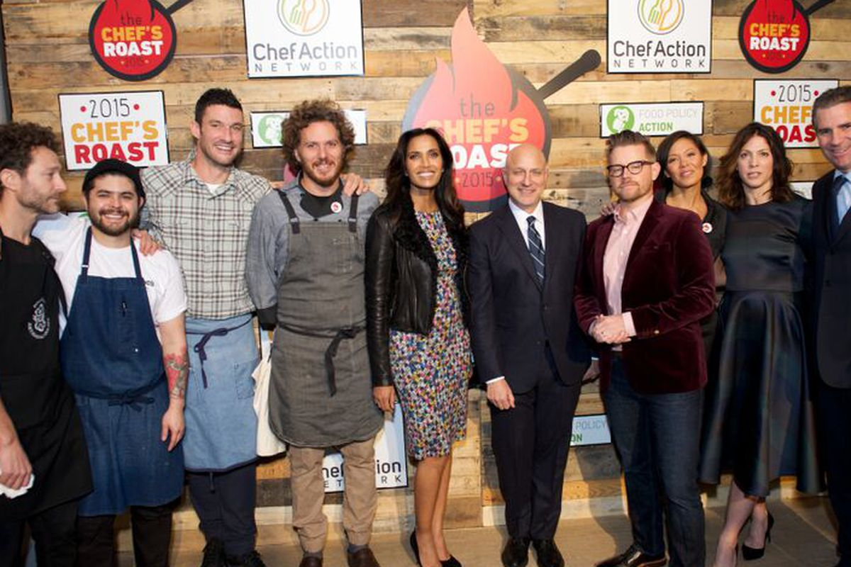 Padma Lakshmi, Tom Colicchio and others at last night's event