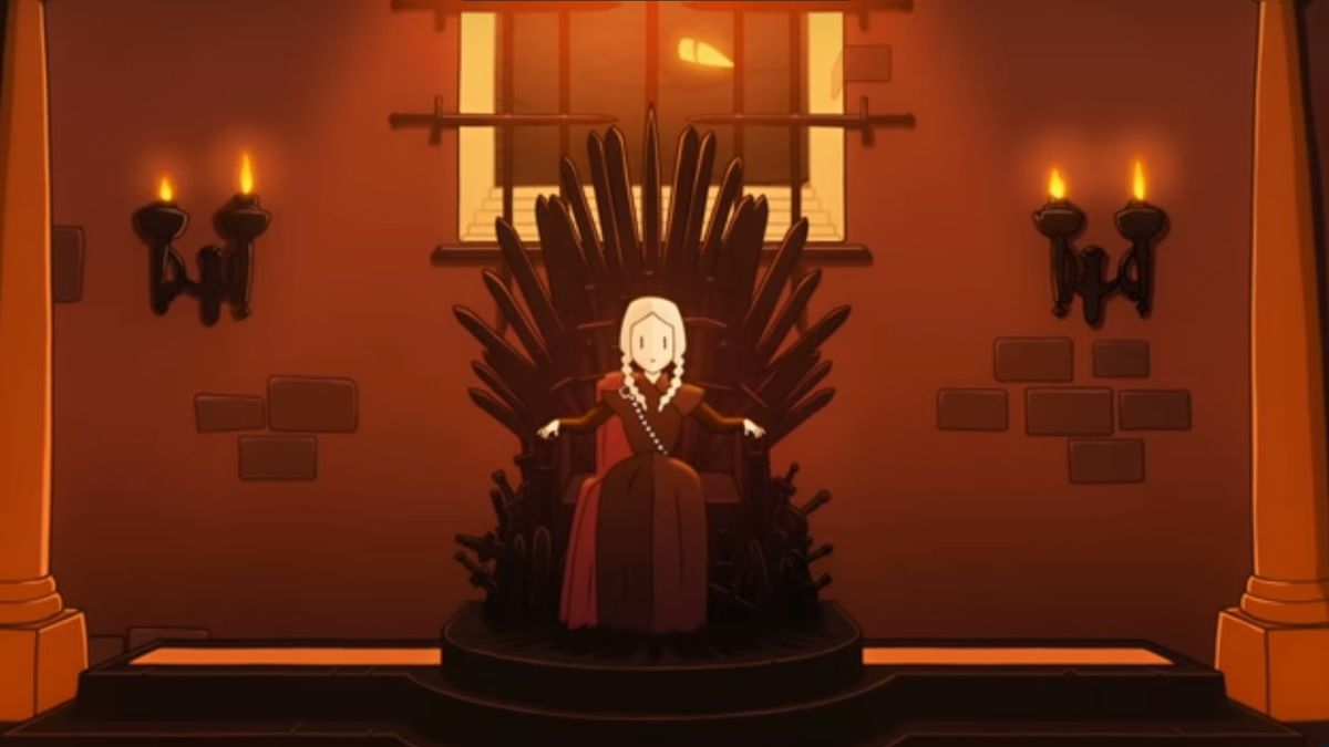 Reigns: Game of Thrones - woman on the Iron Throne