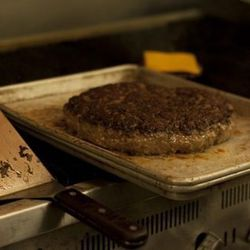 The seared burger.