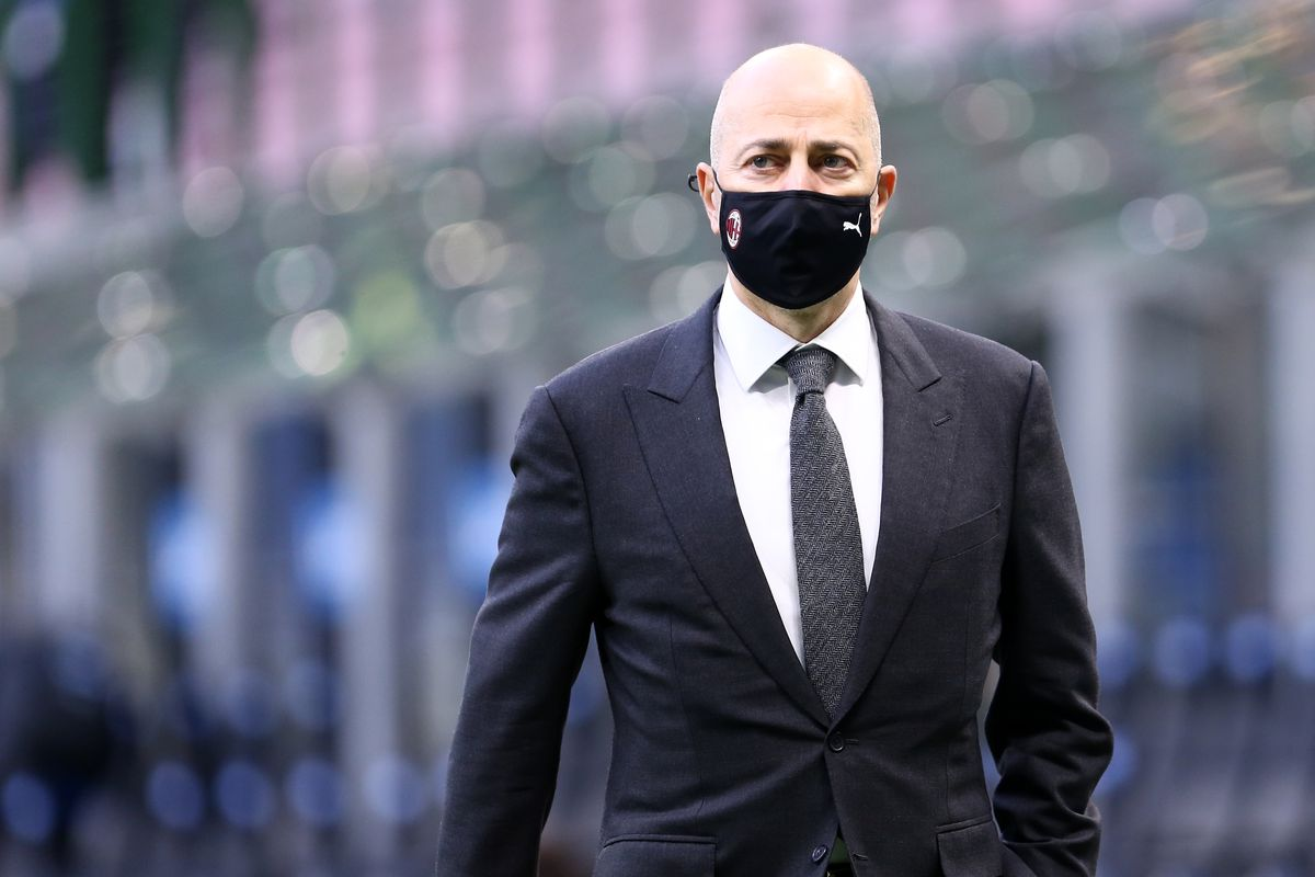 AC Milan CEO Ivan Gazidis looks on during the Serie A...