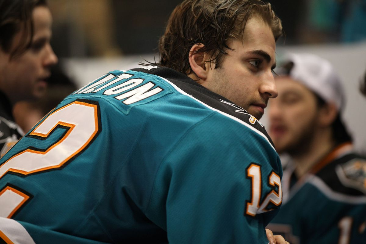 Worcester Sharks forward  (and team MVP) Freddie Hamilton led the Sharks in goals (22) and scoring (22-21-43) for the 2013-14 season.