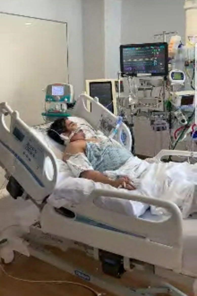 Juan Cruz under care at Bellevue Hospital.