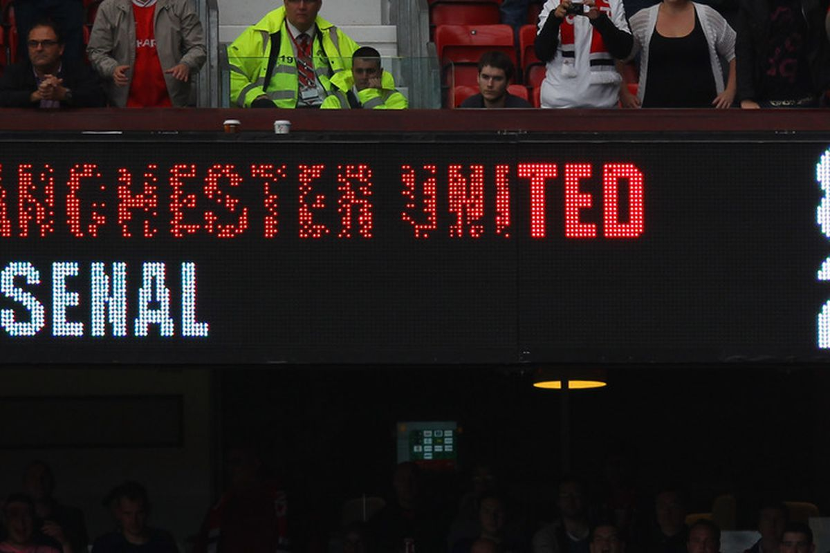 Manchester United 8 2 Arsenal Fc Statistics And Post Match Quotes The Busby Babe