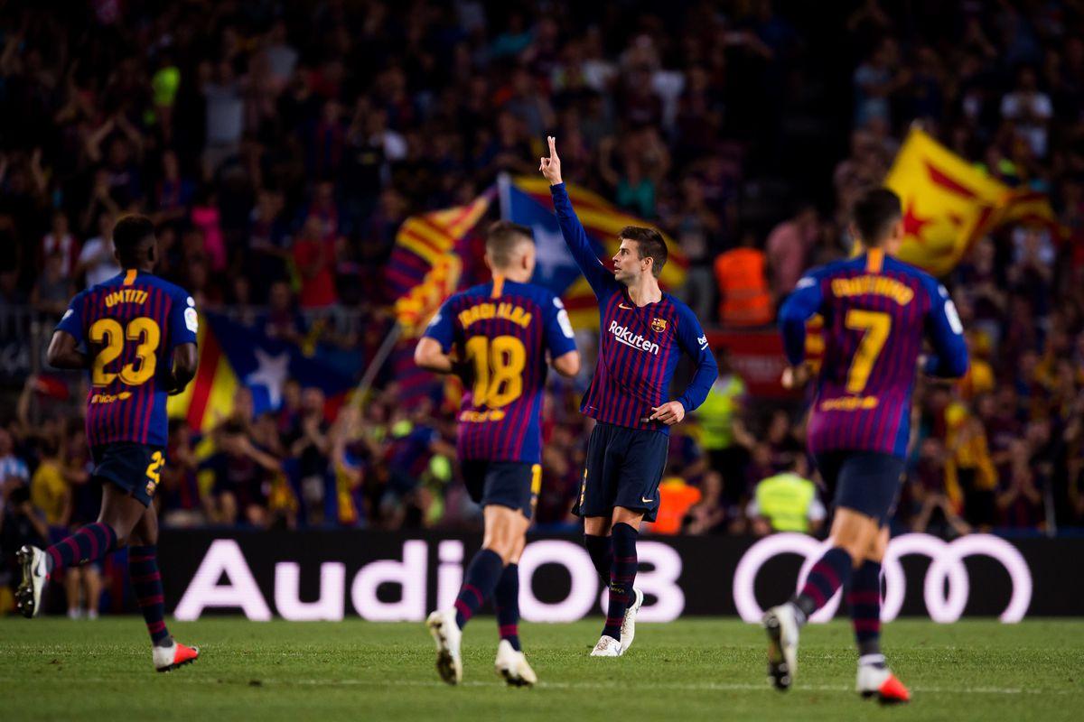 Barcelona Vs Girona La Liga Final Score 2 2 Gerard Pique Rescues A Point Barca Blaugranes