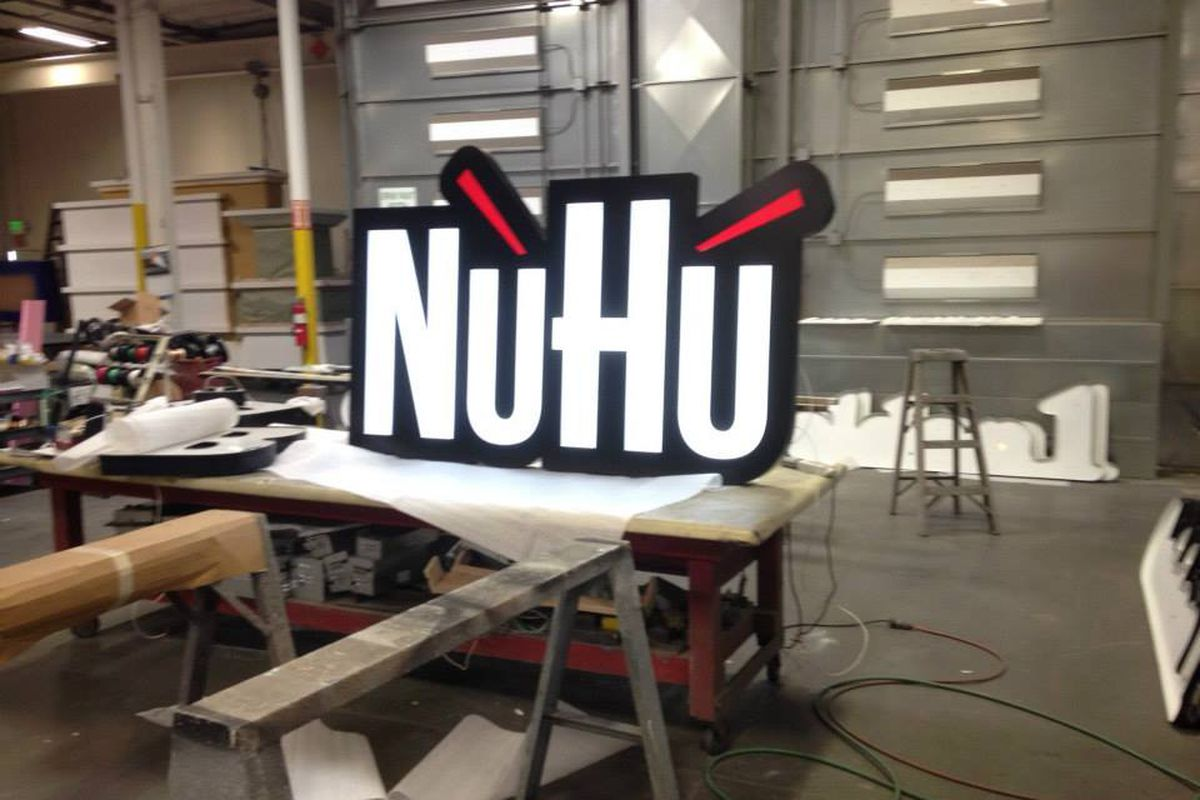 Signage for the new NuHu Mongolian Express