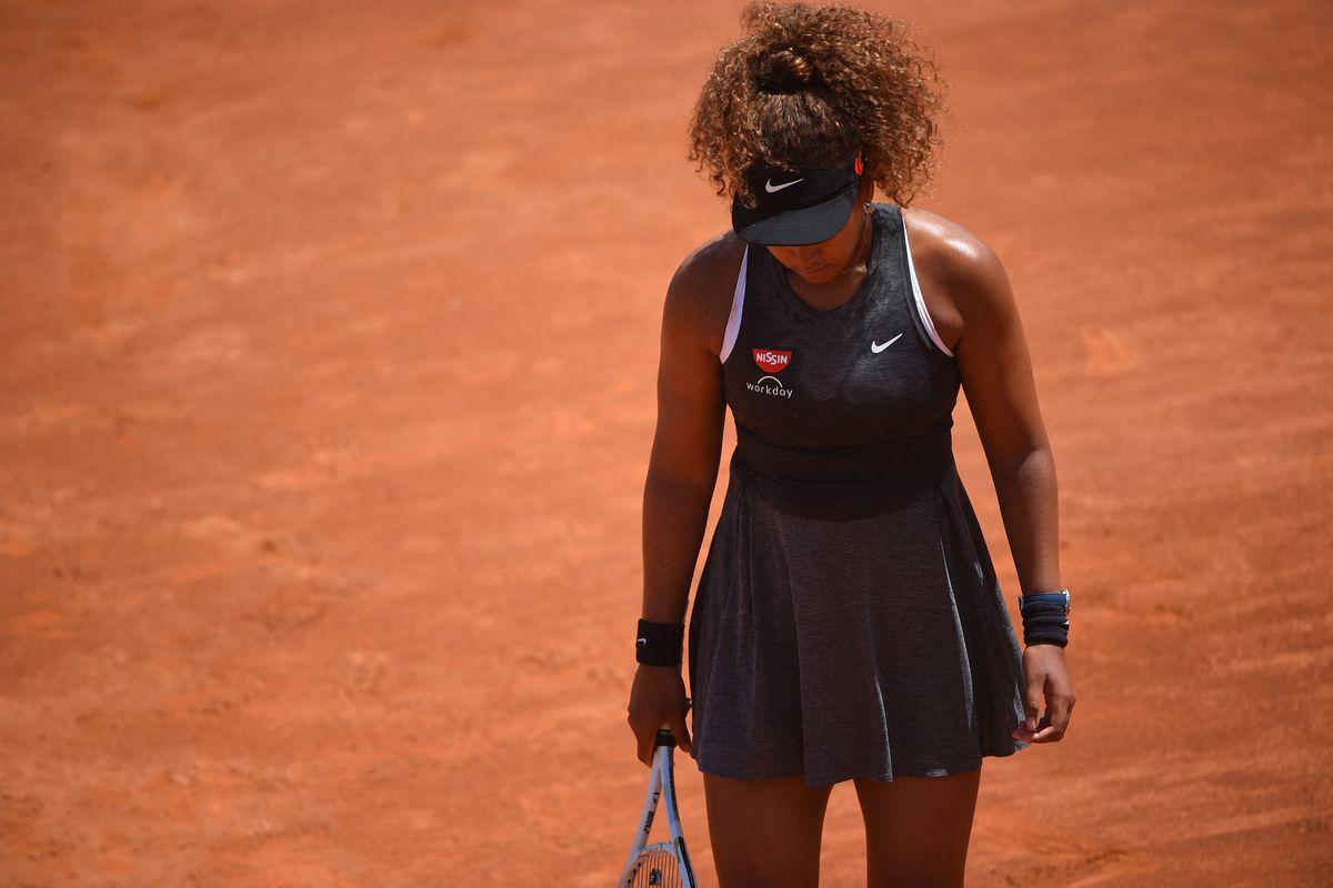 Naomi Osaka (JPN) during her first round match during Rome Tennis Open, Rome, Italy. Tennis star Naomi Osaka said Monday she is withdrawing from the French Open
