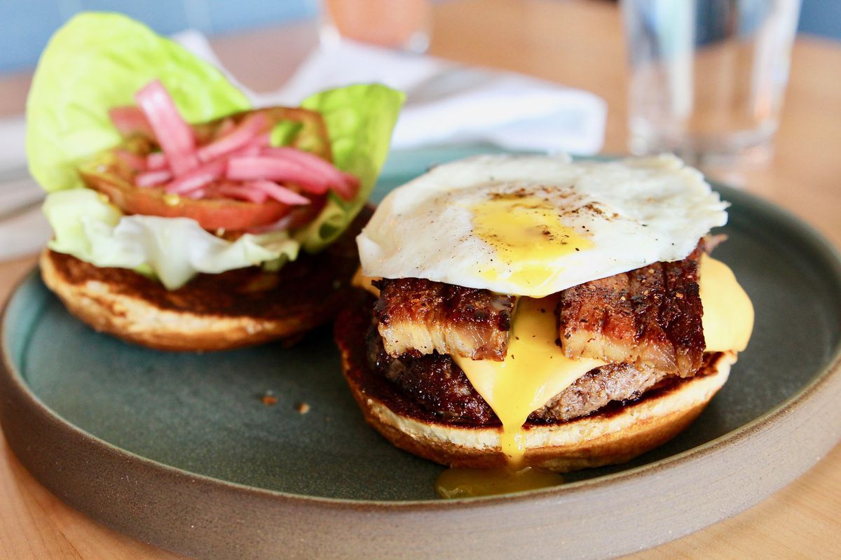 A burger from Rosedale Kitchen