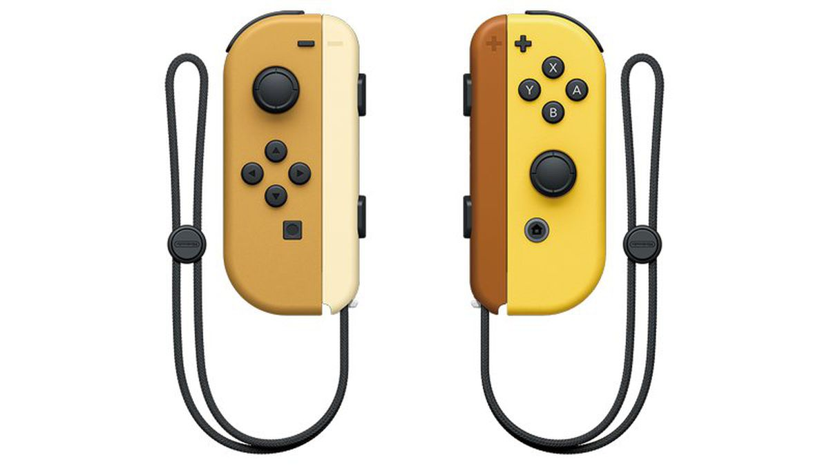 The Eevee and Pikachu Joy-Con for the Pokémon Switch.