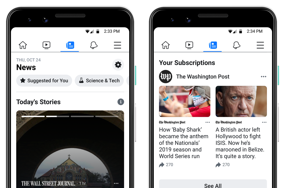 A New Facebook News Tab Is Starting To Roll Out In The United States The Verge Facebook for android is an app that allows you to connect to the vast features of the social media platform on your android phone. a new facebook news tab is starting to
