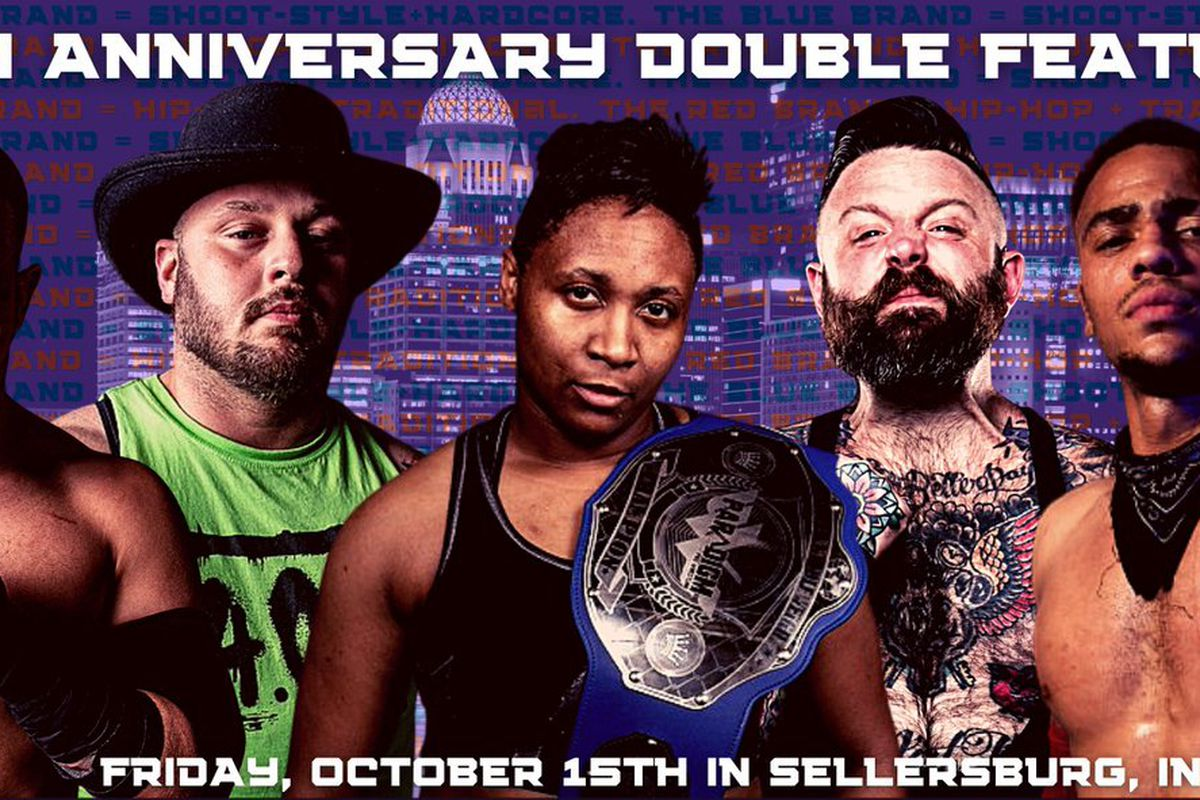 Poster for PPW Fourth Anniversary Double Feature