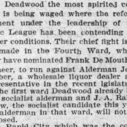 J.A. RAKESTRAW, gun-totin', rootin'-tootin' Socialist from Deadwood