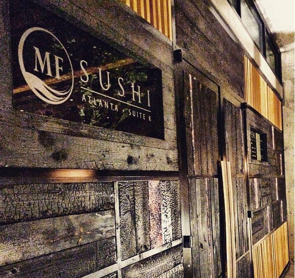 Signage at MF Sushi.