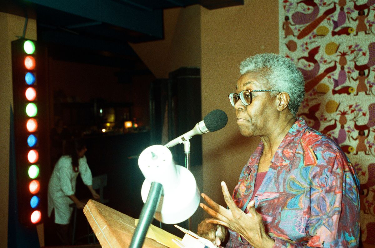 Pictured is a poetry reading by Gwendolyn Brooks in 1991. Sun-Times File Photo.