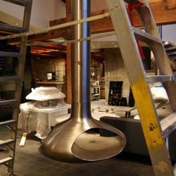 Three flues will pass from the main dining level to the lounge below