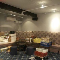 Lounge area in the Oak Bar