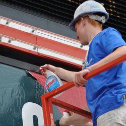Closeup of paint peeling