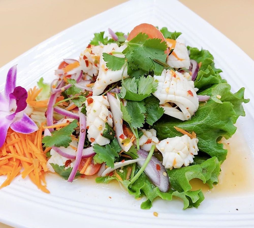 """Squid salad on the """"old world"""" menu of Thai Spoon in Centennial Hills."""