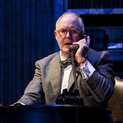 """In this theater image released by Boneau/Bryan-Brown, John Lithgow portrays columnist and political pundit Joseph Alsop in a scene from the play """"The Columnist,"""" playing at the Samuel J. Friedman Theatre in New York."""