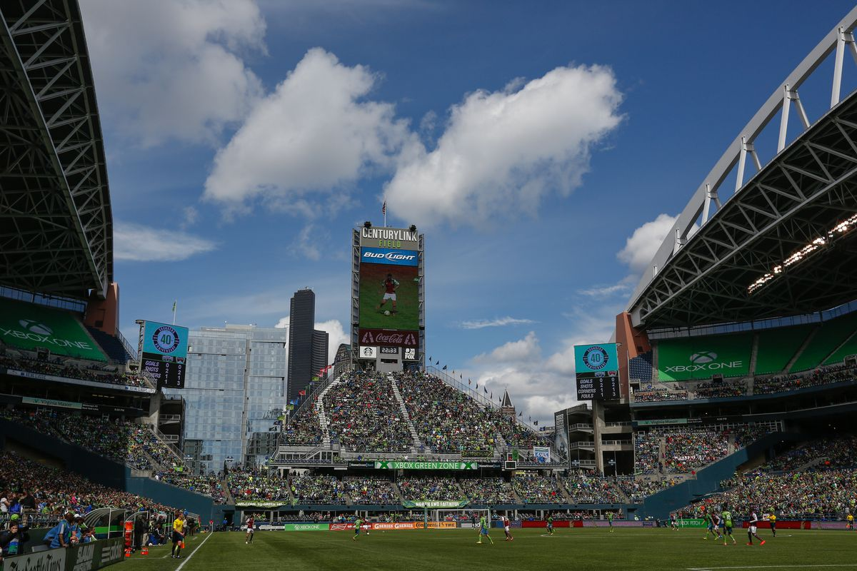 The bluest skies you've ever seen are in Seattle, especially on summer day games.