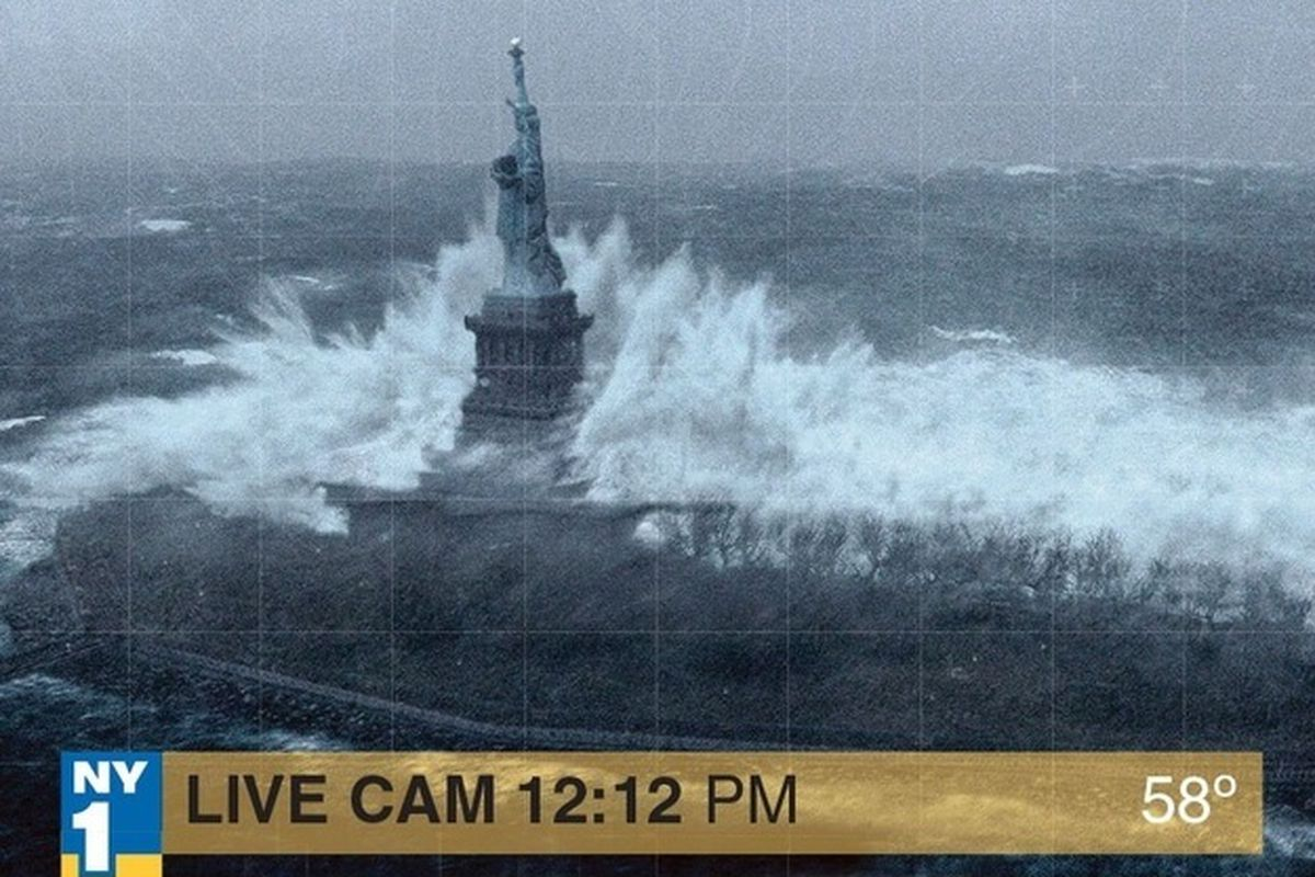 Not an image from Monday's storm, but wallpaper from the film The Day After Tomorrow