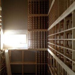 The wine room will hold up to 2,600 bottles