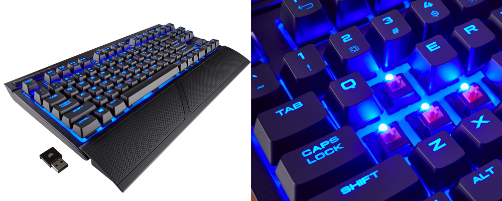 Corsair releases wireless mechanical keyboard and mouse pad