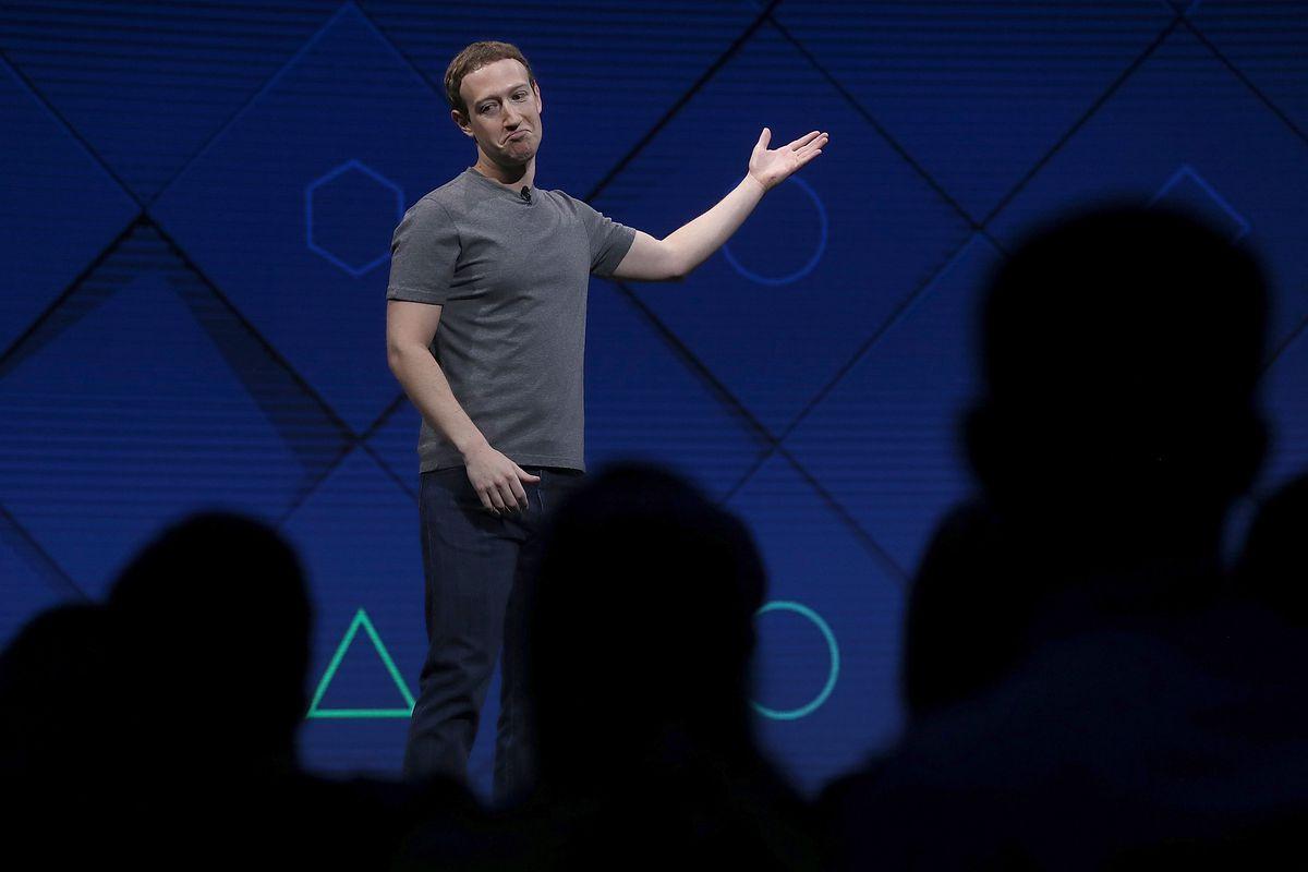 Facebook CEO Mark Zuckerberg onstage