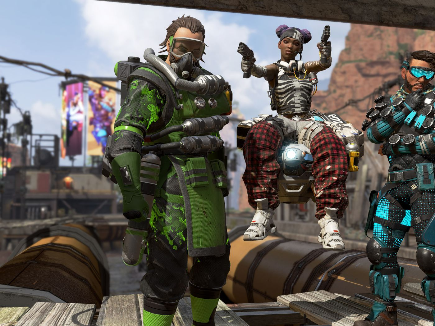 Apex Legends is a Fortnite-style shooter from the creators