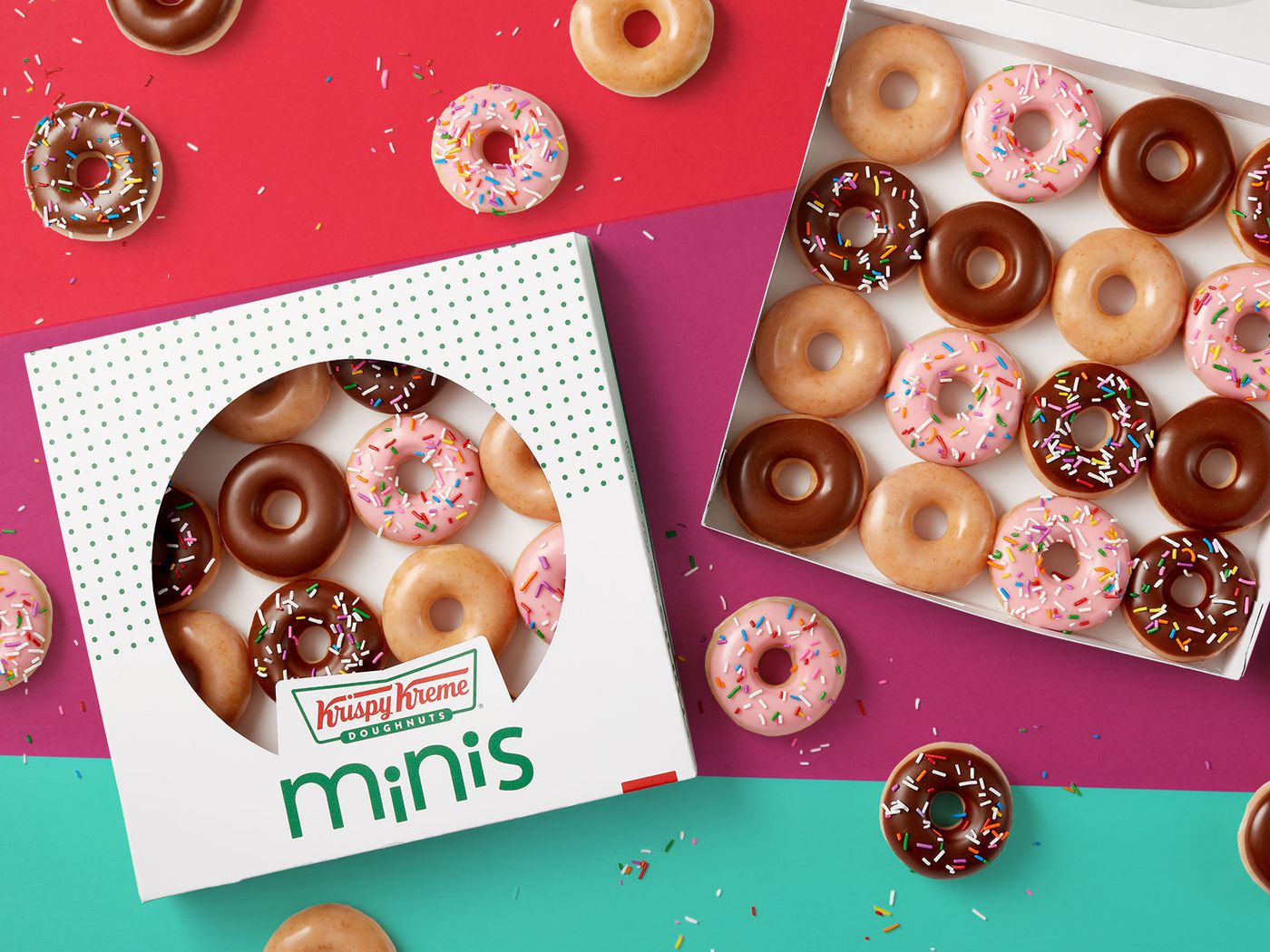Krispy Kreme restaurant fast food donut Sign