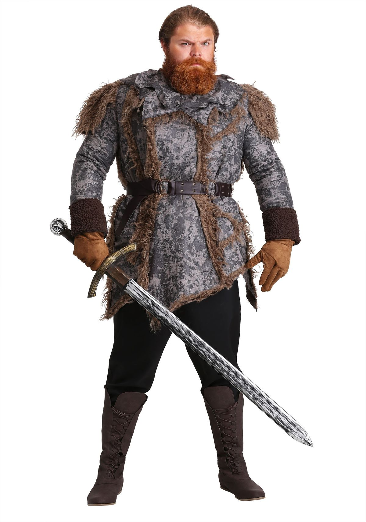 MEN'S PLUS SIZE WILD WARRIOR COSTUME