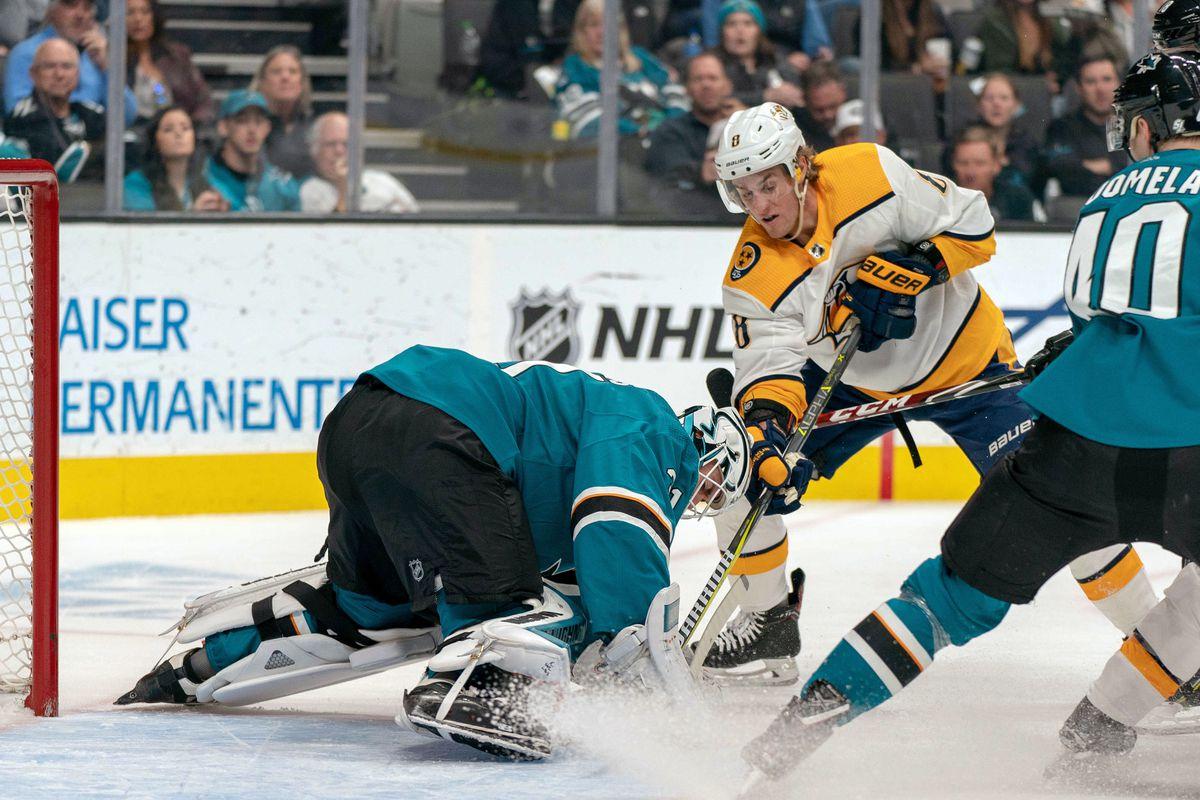 NHL: Nashville Predators at San Jose Sharks
