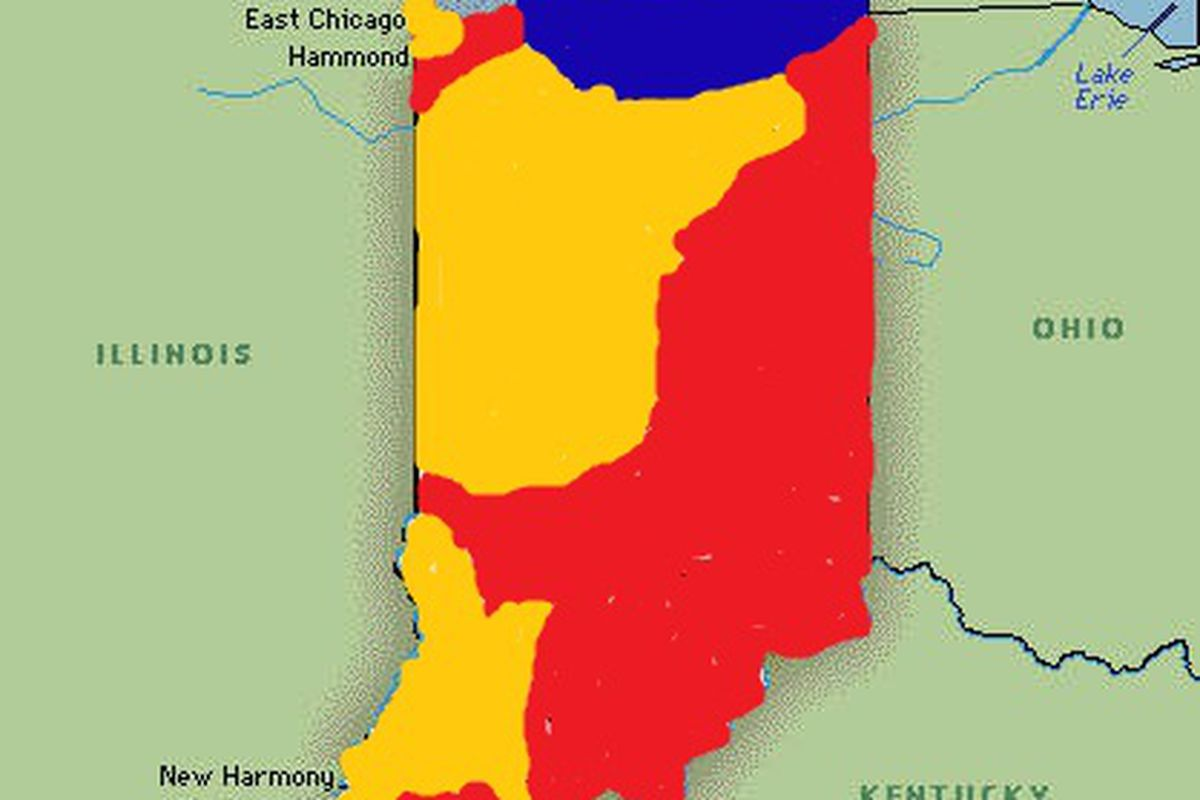 The original mock of what the state of Indiana borders were, in my rather uniformed opinion.