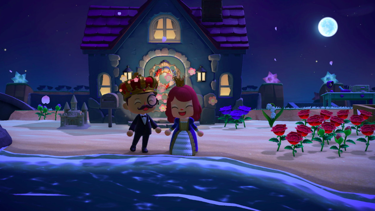 Two players in Animal Crossing: New Horizons.
