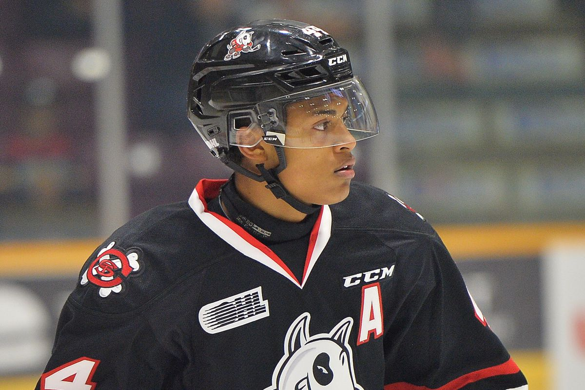 2018 potential first round pick Akil Thomas of the OHL Niagara IceDogs  Terry Wilson   OHL Images. The 2018 NHL Draft ... 081b936b3