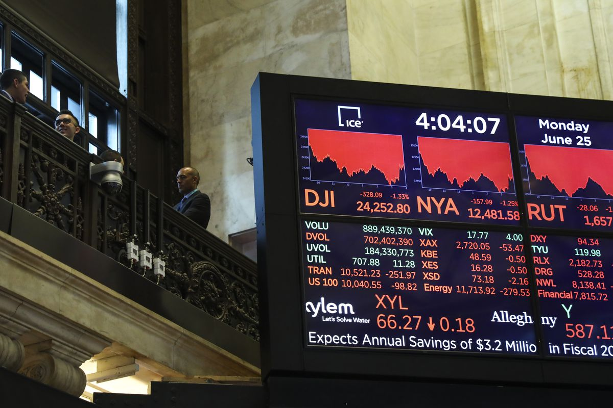 Markets Take Steep Dive Amid Continue Trade Tensions Between U.S. And China