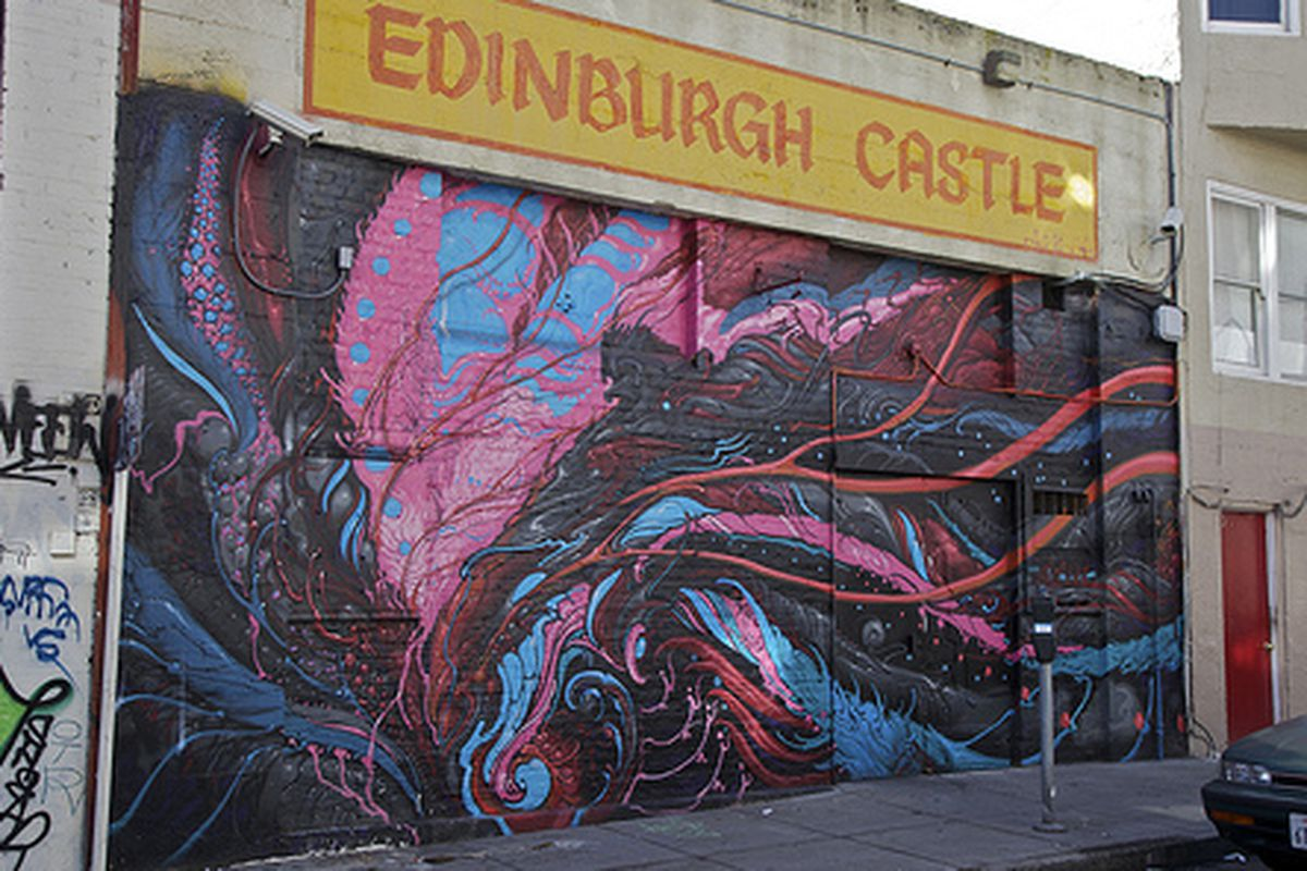 A mural at Edinburgh Castle.