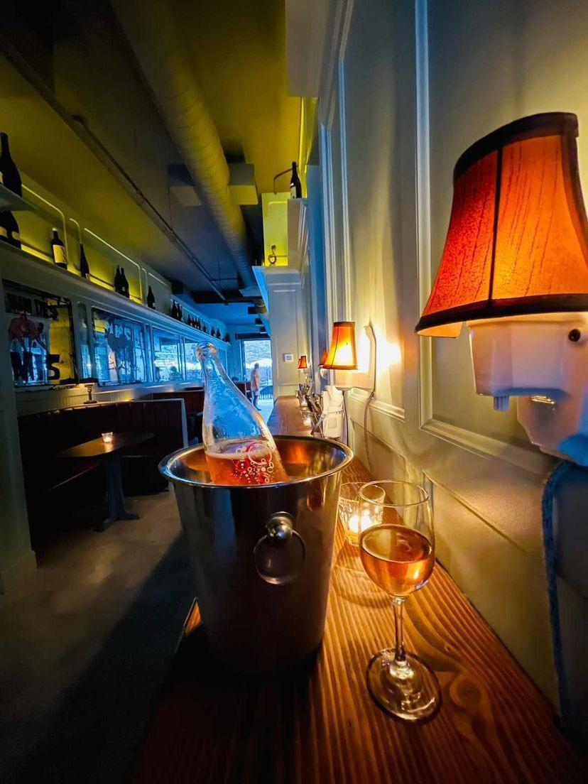 a wine bar in Brooklyn