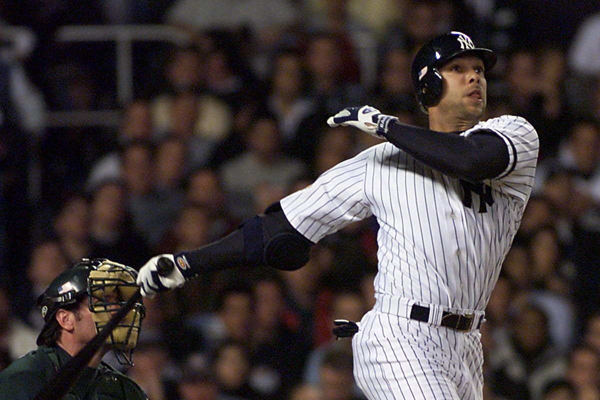 New York Yankees David Justice watches his 6th inni