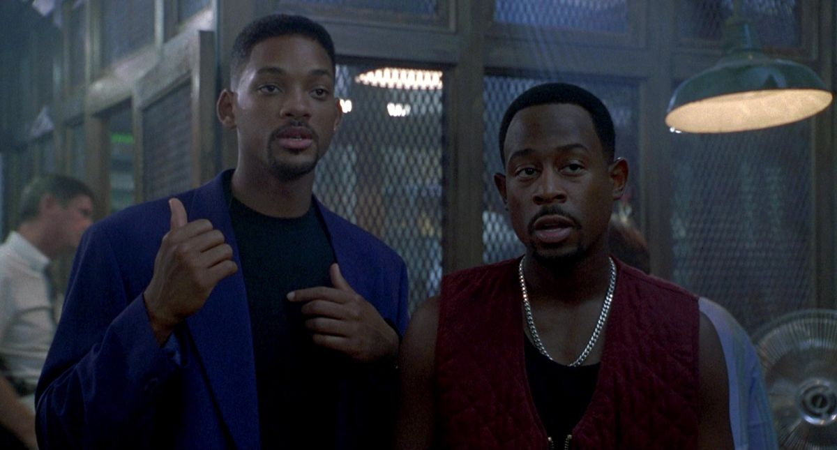 Will Smith and Martin Lawrence in a screenshot from Bad Boys
