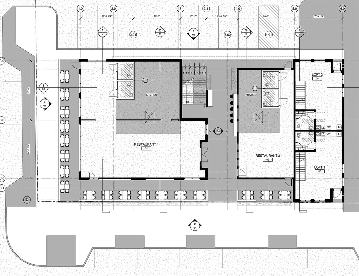 Plans for the new Hosea + 2nd restaurant spaces