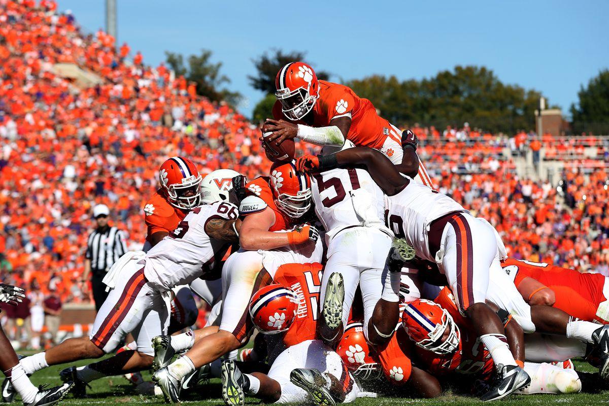 Virginia Tech Vs Clemson 2012 Final Score Tajh Boyd Leads Tigers To 38 17 Win Sbnation Com