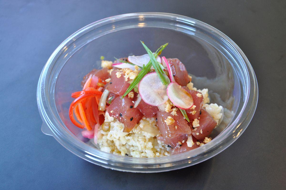 A bowl of Shoyu Classic poke from Manoa