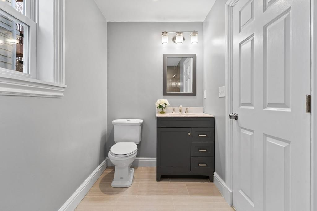 The view into that bathroom, with the toilet figuring prominently.