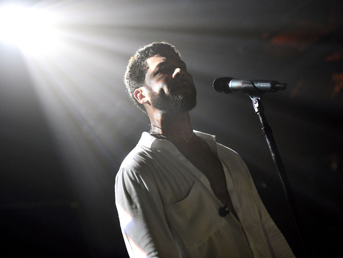 Jussie Smollett performs on February 2, 2019, in West Hollywood, California.