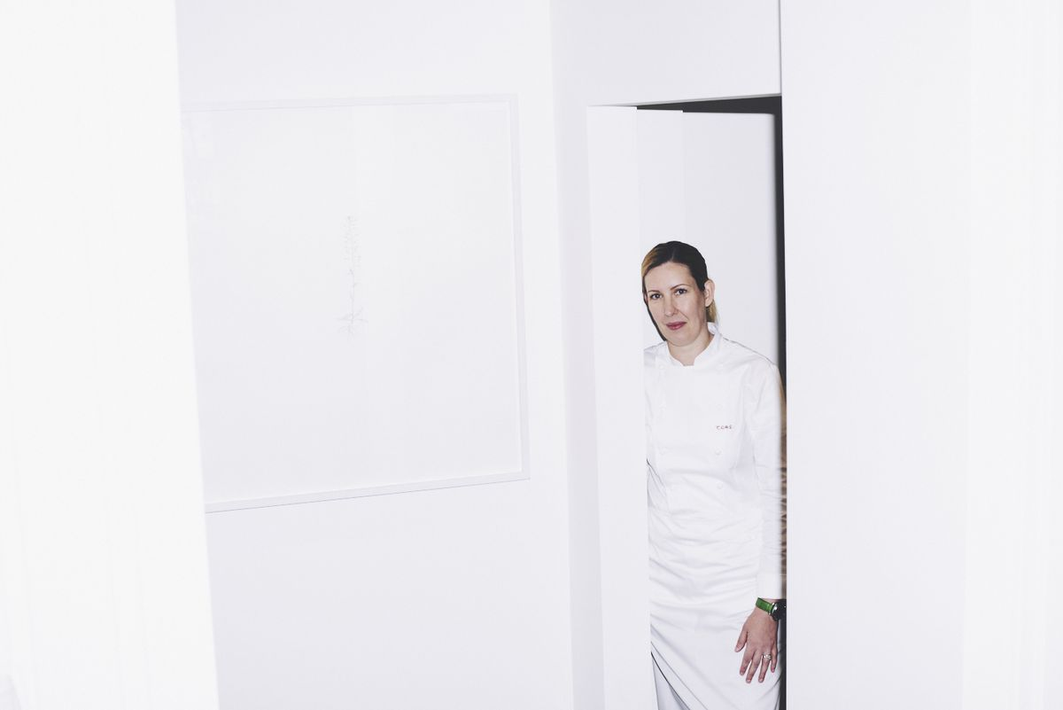 Clare Smyth at her eponymous two Michelin star restaurant Core by Clare Smyth in Notting Hill, London