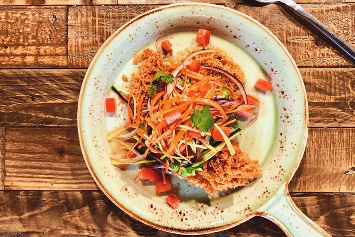 Thai-style crispy steel trout planned for the menu at Seabream, coming to Tivoli Village.