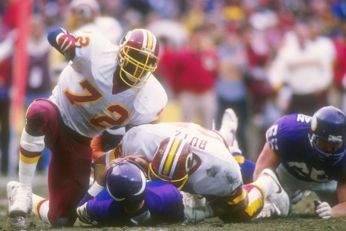 quality design 6676a 69e65 Redskins by the (Jersey) Numbers: #72 Dexter Manley - Hogs Haven